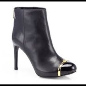 New! Tory Burch Pacey toe cap leather ankle boot